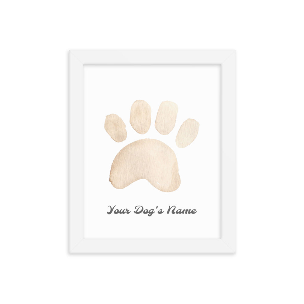 Buy online Premium Quality Personalized Dog Paw Frame - Framed photo paper poster - Brown - Great Dog Mom Gift Idea - Dog Mom Treats