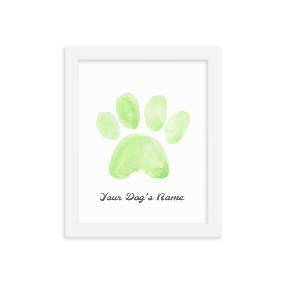 Buy online Premium Quality Personalized Dog Paw Frame - Framed photo paper poster - Green - Great Dog Mom Gift Idea - Dog Mom Treats