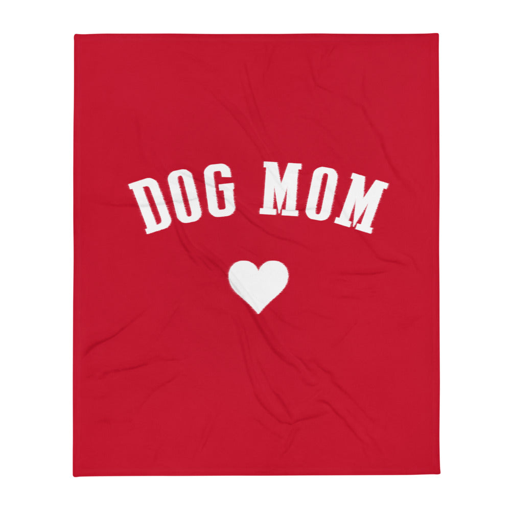 Buy online Premium Quality Dog Mom  - Heart - Throw Blanket - Gift Idea - #dogmomtreats - Dog Mom Treats