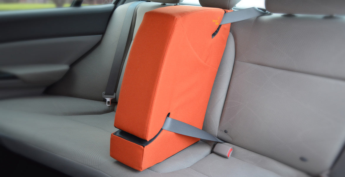 Backseat Wally is a soft but sturdy barrier that installs quickly and securely in the center rear seat.