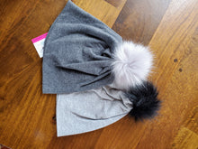 Load image into Gallery viewer, Heather Grey Stretch Knit Pom Pom Hat
