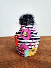 Load image into Gallery viewer, Stretch cotton knit hat with snap off pompom. Easy wash, comfy wear
