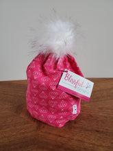 Load image into Gallery viewer, Pink Diamonds Stretch Knit Pom Pom Hat