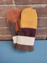 Load image into Gallery viewer, Wool Sweater Mittens - Earth Colors