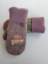 Load image into Gallery viewer, Wool Sweater Mittens - Chocolate Hearts