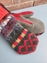 Load image into Gallery viewer, Wool Sweater Mittens - Ugly Sweater 2