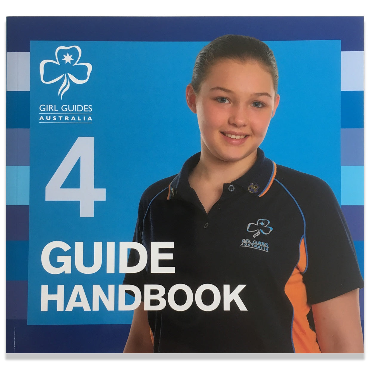 guide book with young girl