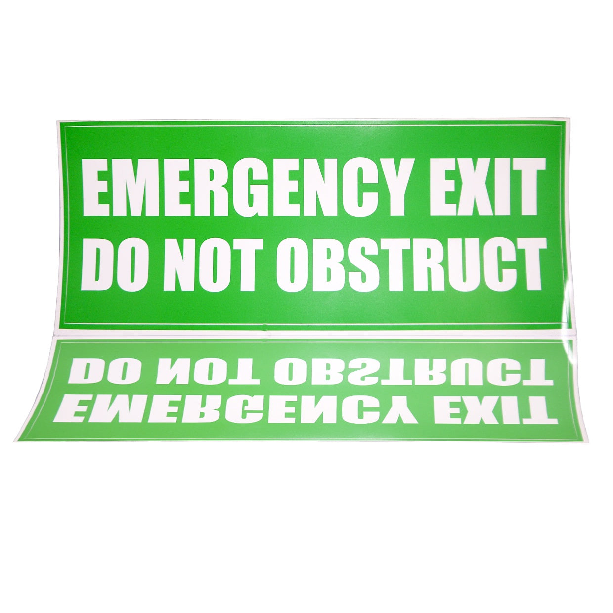 Sign - Emergency Exit Do Not Obstruct (Internal)