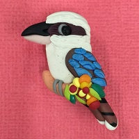 Clay Brooch - Kookaburra