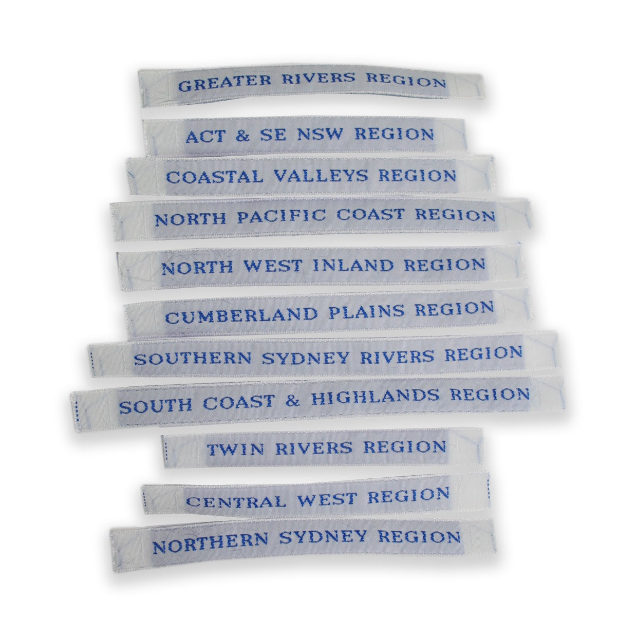 Individual Region Name Tape - 10mm