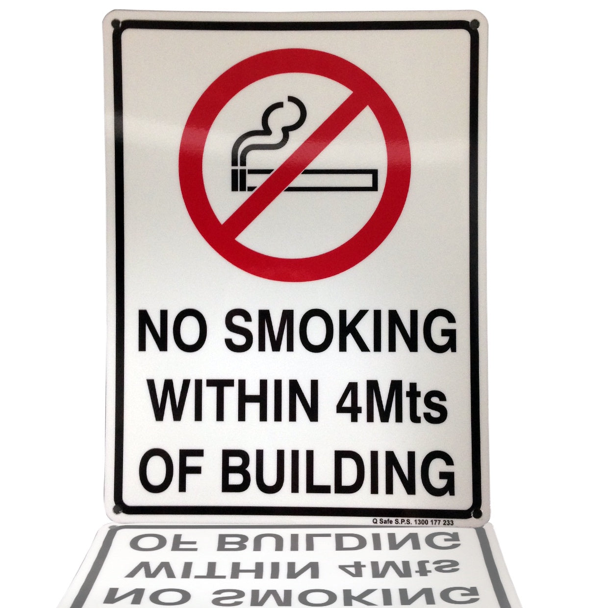 Sign - No Smoking within 4m of this building (heavy duty)