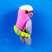 Clay Brooch - Galah
