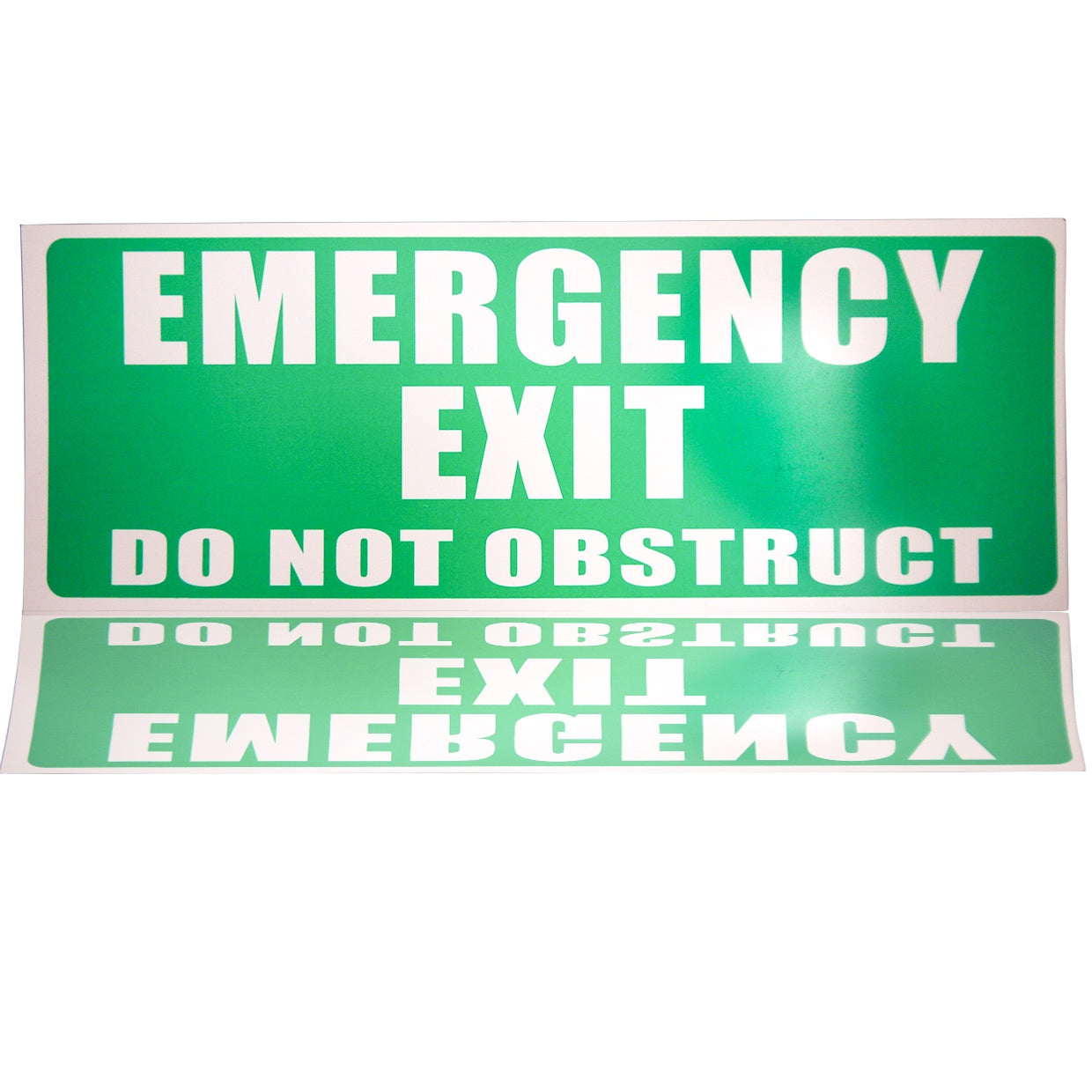 Sign - Emergency Exit Do Not Obstruct (External)