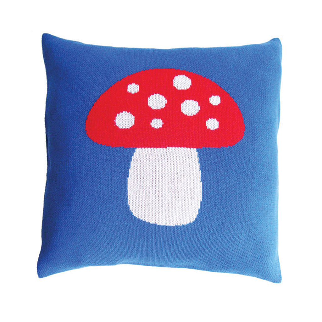 Fairytale Forest - Blue Mushroom Pillow Case