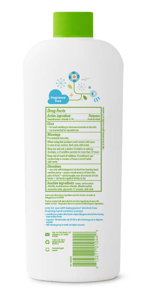 『Babyganics』Hand Sanitizer Fragrance Free - 473ml Refill
