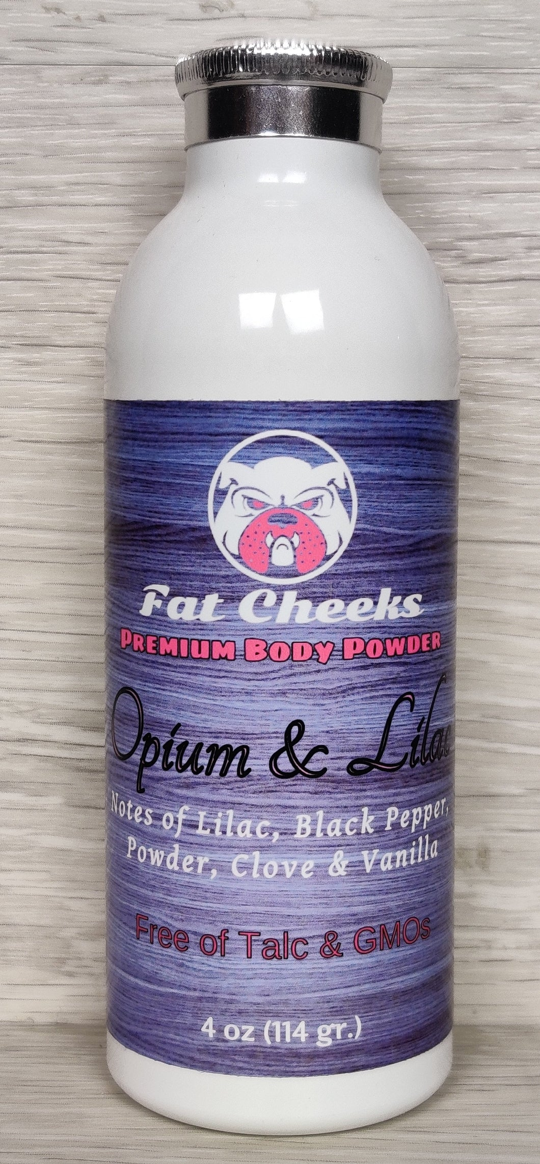 Opium & Lilac  Fat Cheeks Body Powder, Ball Powder, Foot Powder, and Dry Shampoo