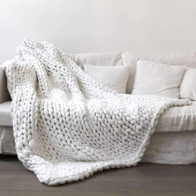 50% 0FF🧶🧶Colorful - Chunky Knit Blanket
