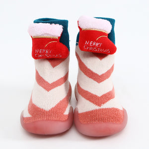 (Buy 2 Free Shipping)Winter Kid Warm Snow Sock Shoes  Booties  Anti-slip Christmas Shoes