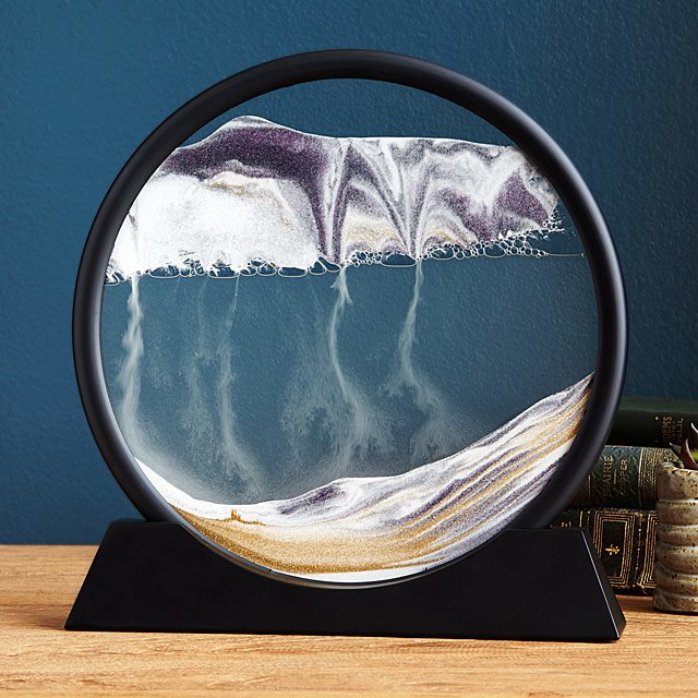 DEEP SEA MOVING SAND PICTURES ART(ROUND)