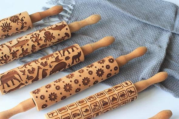 (BUY 2 FREE SHIPPING)VINTAGE ROLLING PIN