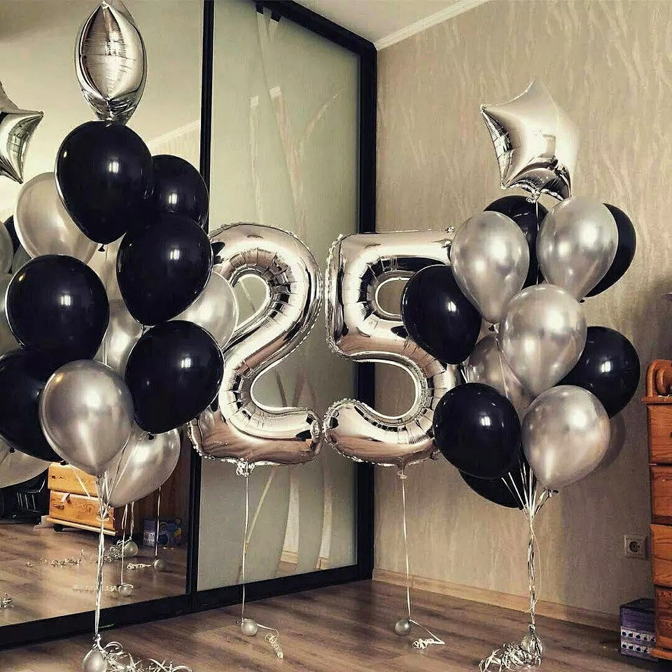 Set Balloons Happy