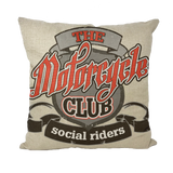 THE MOTORCYCLE CLUB Throw Pillow with Insert