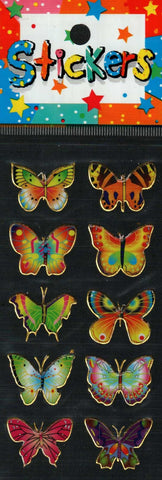 Full Color Sticker Sheet -  Butterfly 10 pc
