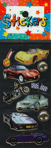 Full Color Sticker Sheet -  Sports Cars