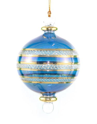 Crystal Gold Etched Banded Globe -