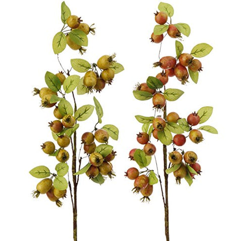 26 Inch Berry and Leaf Spray -