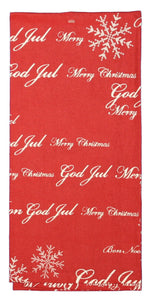 Merry Christmas Sayings Kitchen Towel in  Red