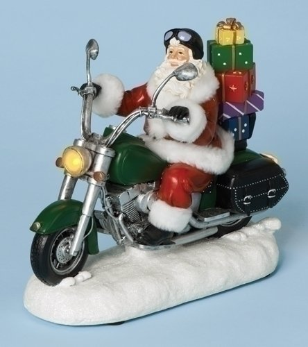 Musical Santa Mototcycle Fig