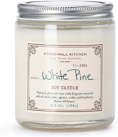 Stonewall Kitchen White Pine Soy Candle - 6.5 oz jar