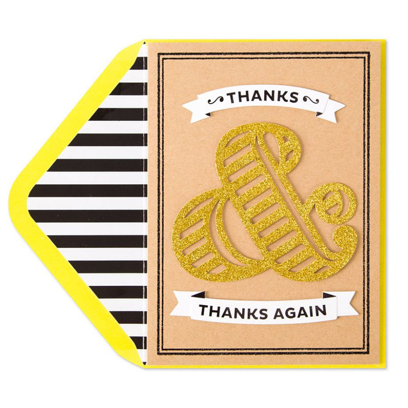 Thanks And Thanks Again Thank You Card