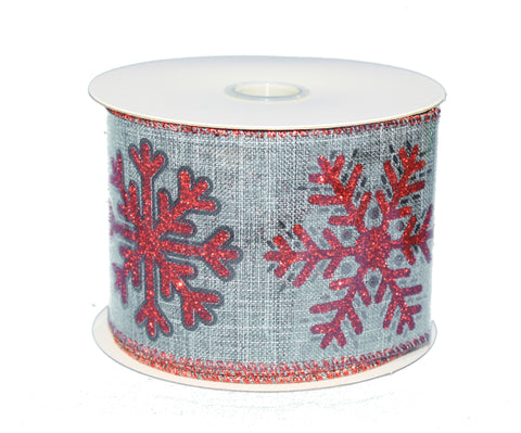 Wired 2.5-inch Red Christmas Ribbon Roll -