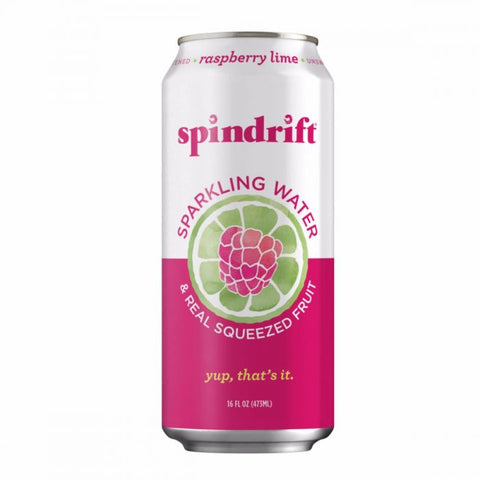 16 ounce Spindrift Sparkling Water And Real Squeezed Fruit -  Raspberry Lime