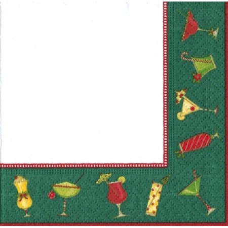 Caspari Christmas Cocktails Paper Goods -