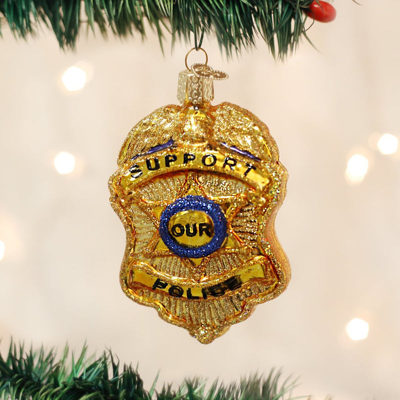 Old World Christmas Police Badge