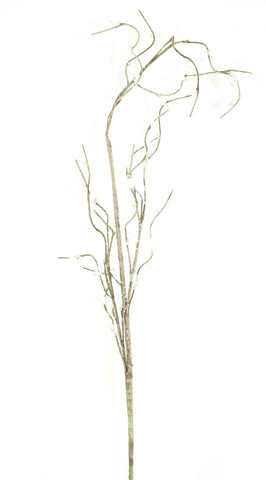28 Inch Frosted Branches with Ice 'beads' - Olive Color