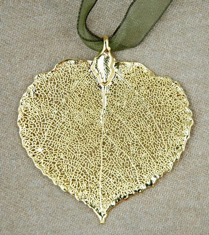 Aspen Leaf Ornament Gold