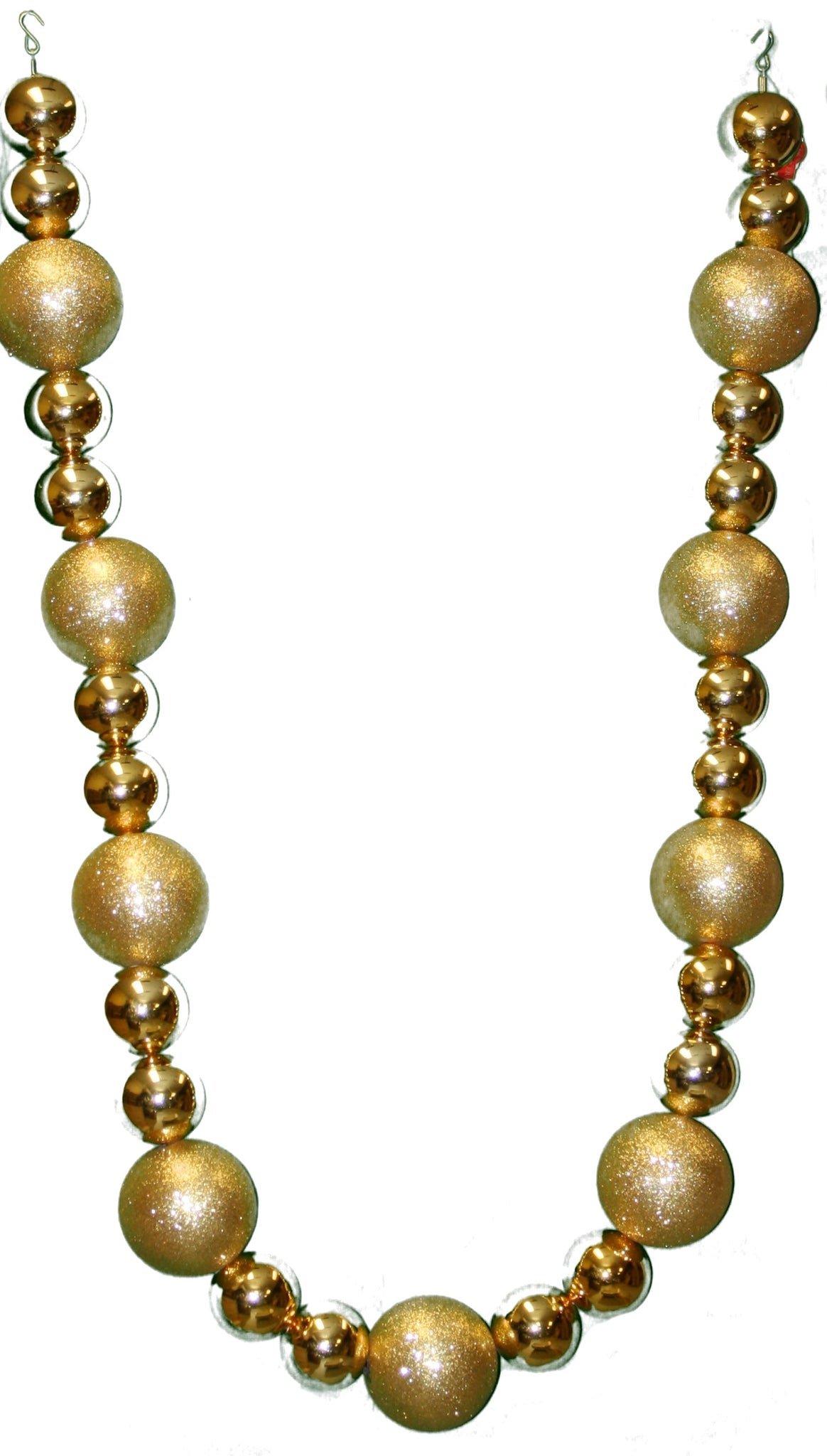 Gold Jumbo Ball Garland - 9'