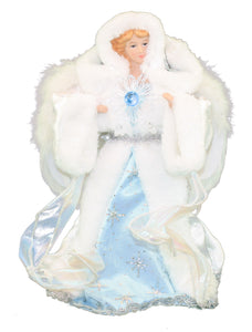 12 inch Frosted Light Blue and White Angel