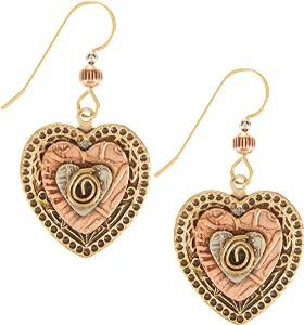 Layered Hearts With Coil  Earrings