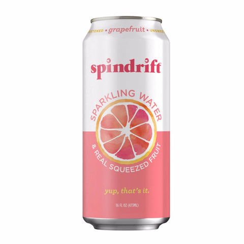 16 ounce Spindrift Sparkling Water And Real Squeezed Fruit -  Grapefruit