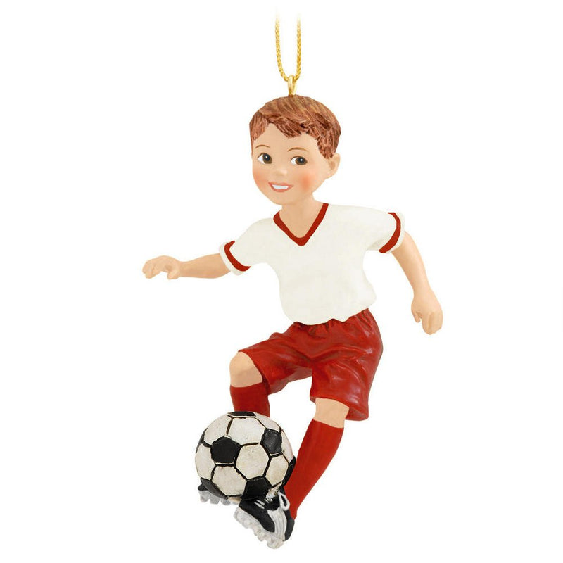 Resin Soccer Player Ornament - Boy