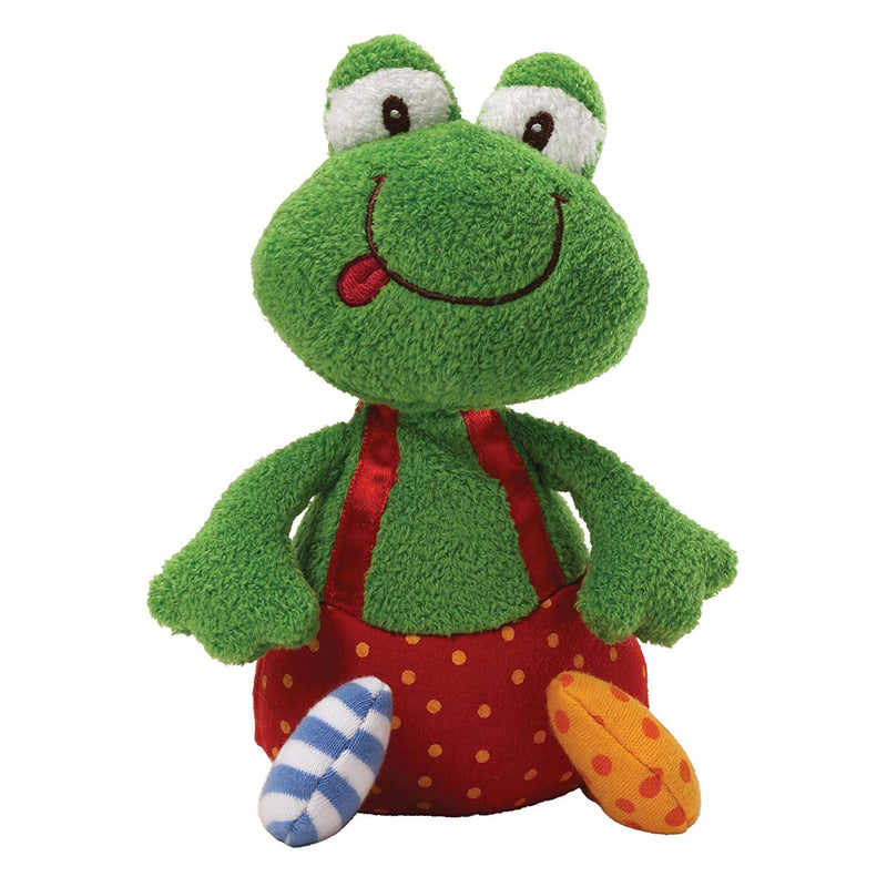 Gund Baby 8 inch Sock Hop Chime Plush Toy - Ribbitz Frog