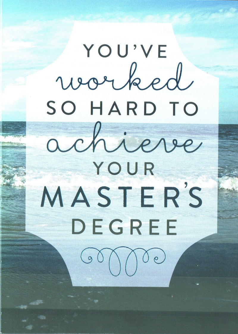 Masters Graduation Day Card