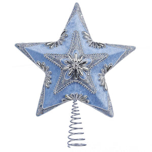 13.5 inch Pale Blue/Silver Star Tree