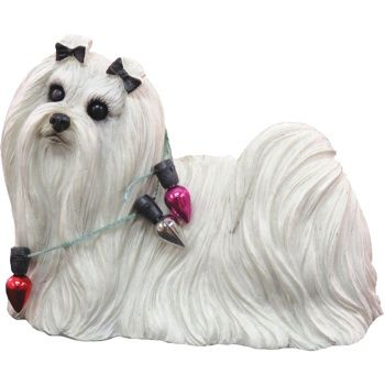 Dog Ornament - Maltese