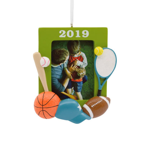 Hallmark All Star Sports Photo Holder Dated 2019 Ornament